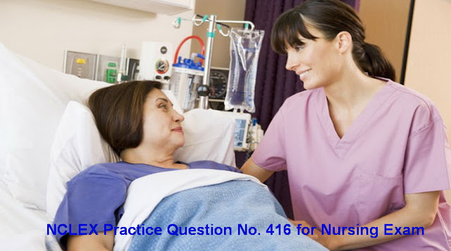 NCLEX Practice Question No 416 with Rationale and Answer