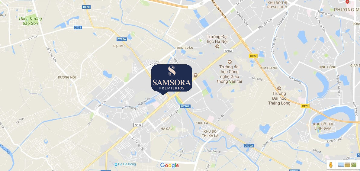 Vị trí chung cư Samsora Premier