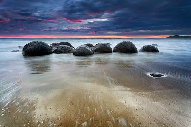 Moeraki Boulders, Otago, South Island, Selandia Baru