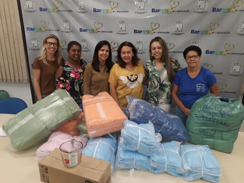 Unidades da Educação Infantil de Barretos recebem artigos de cama e banho