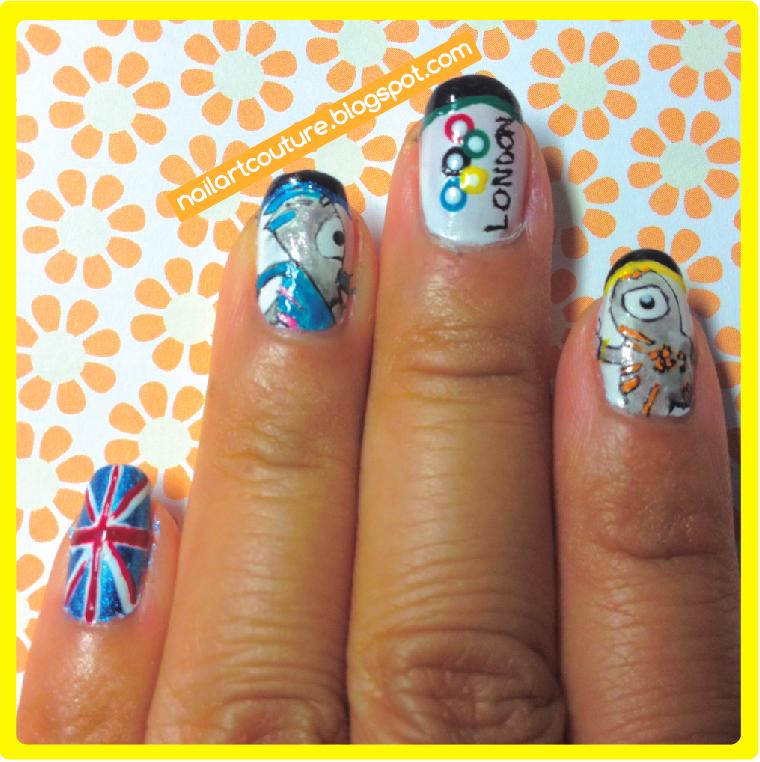 Nail Art London: Nail Art Couture★ !: London Olympics Nail Art 2012