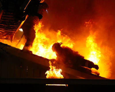 Fully Involved San Jose Firefighter Survives Roof Collapse