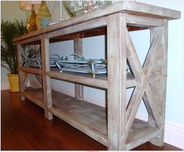 Wonderful Rustic Console Table Snapshot