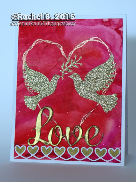 Impression Obsession Valentine's day card