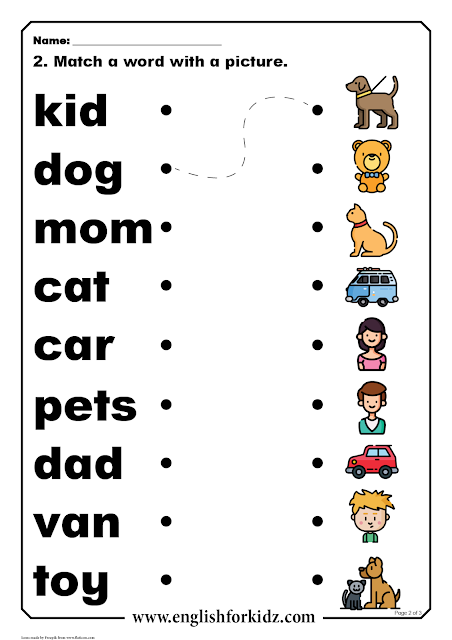 Printable reading comprehension worksheet for ESL students in elementary school