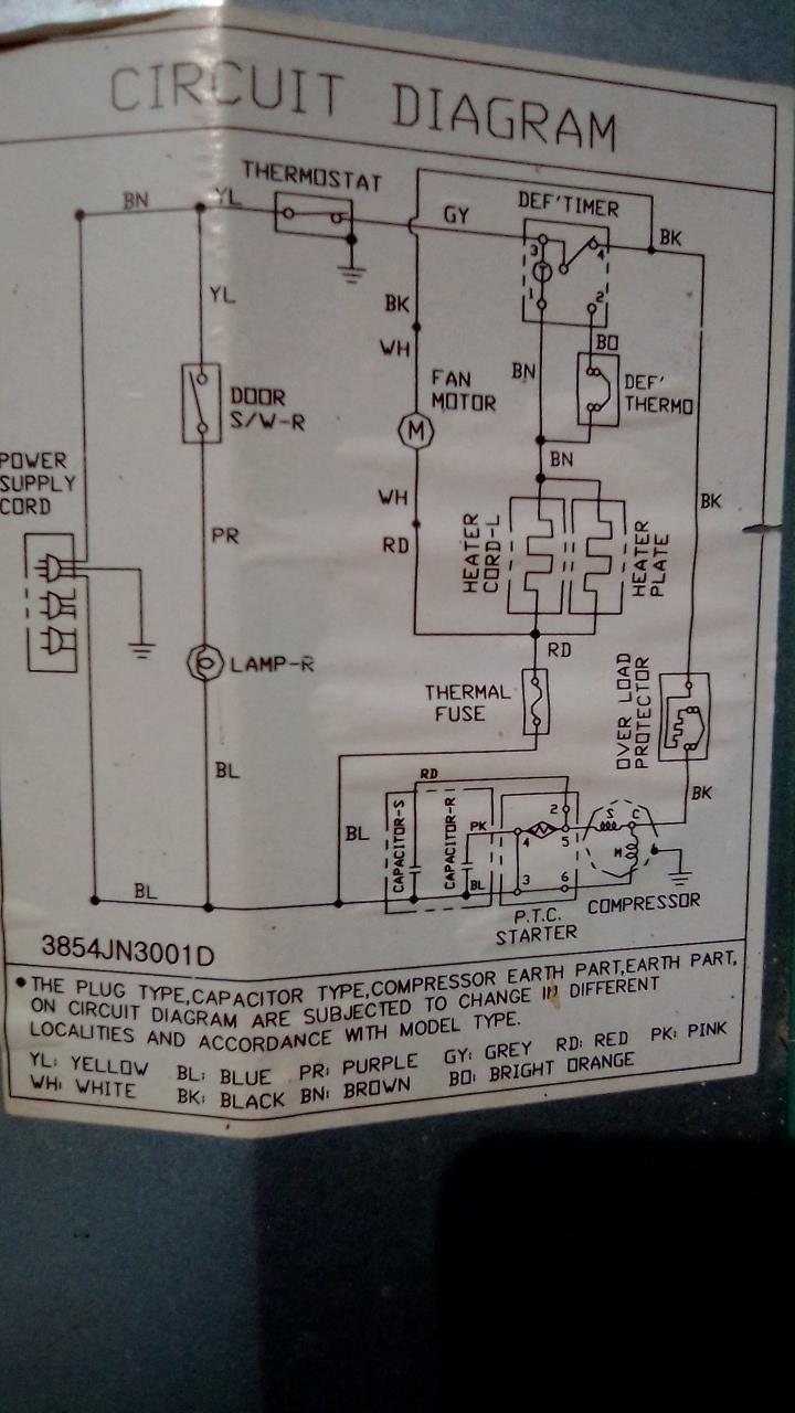 Service Elektronik  Skema Kulkas Lg Dua Pintu
