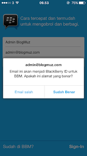 Cara Membuat ID BBM Tanpa Email