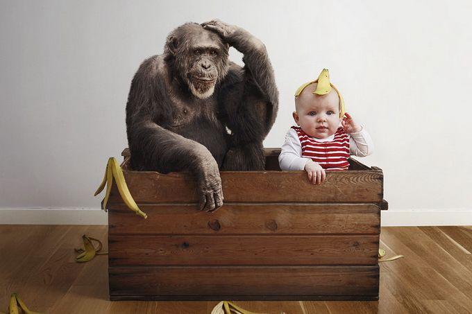 Imagen divertida de bebé