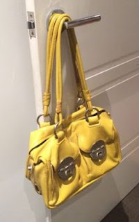 Mimco mini turnlock bag, mustard yellow