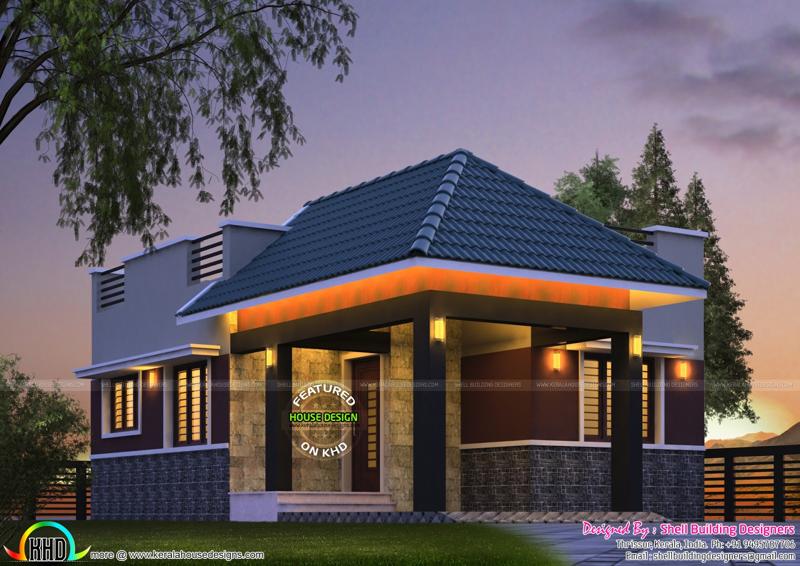 Tiny kerala home design kerala home design and floor plans for Kerala small house designs
