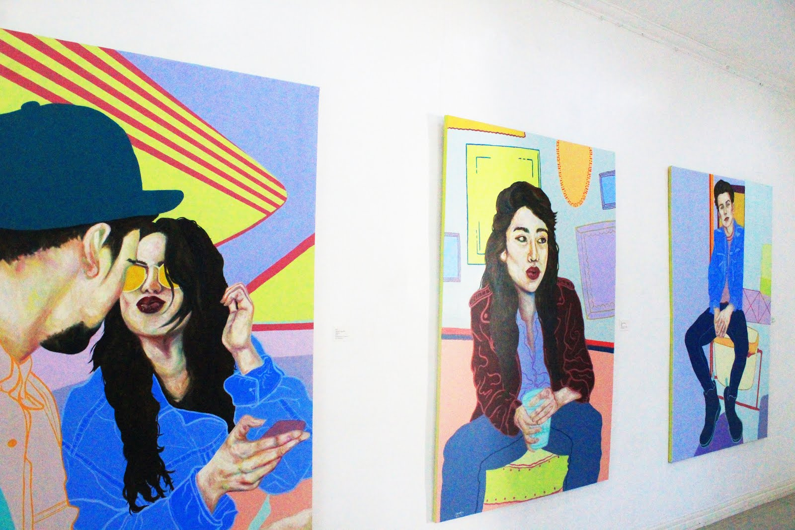 Artist captures blurry Millennial memories on canvas  Art, Creative, Creativity, Culture, Design, Exhibit, Generation, Hugot, Inspiration, Love, Millennials, Selfie Generation, Sentimental, Selfie, Hue Are, Claudine Dignadice, Fashion, Party, Trend, Youth