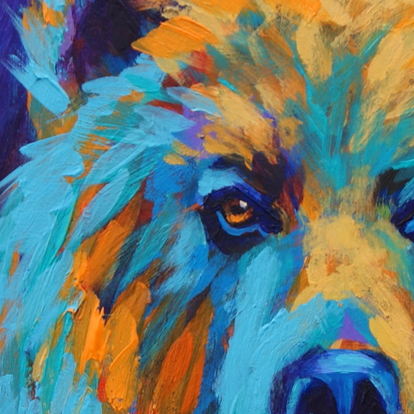 Paintings by Theresa Paden: Grizzly Bear Painting in ...