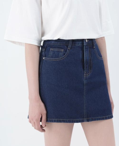 5-Pocket Mini Denim Skirt