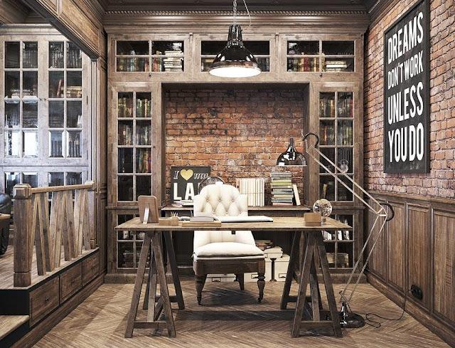 best cool rustic office furniture sets design decorating ideas