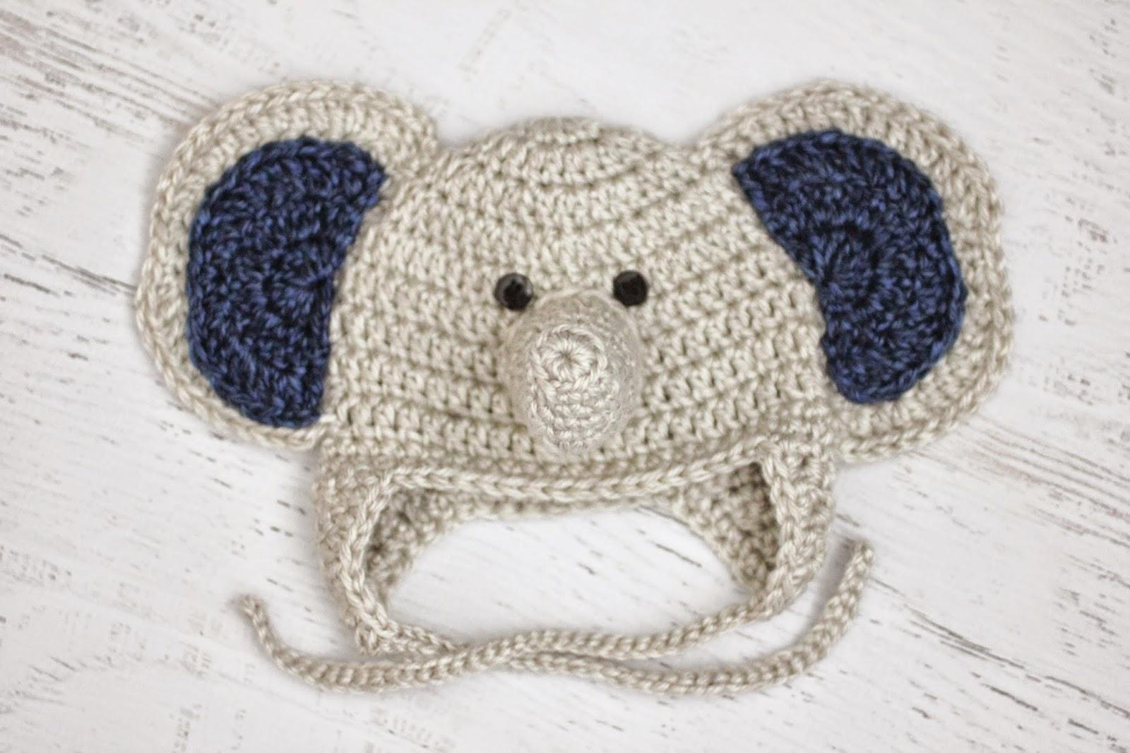 8adae68b653 Free Crochet Pattern For Newborn Elephant Hat ~ Pakbit for .