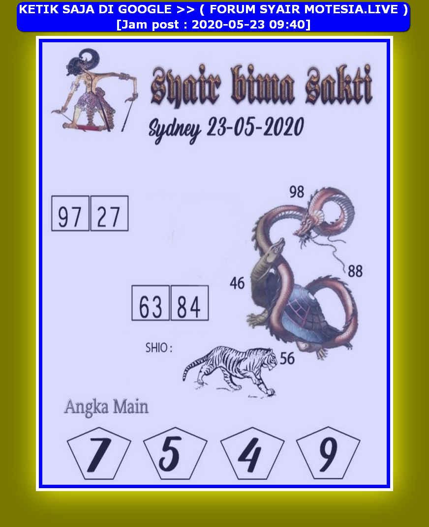 Kode syair Sydney Sabtu 23 Mei 2020 94