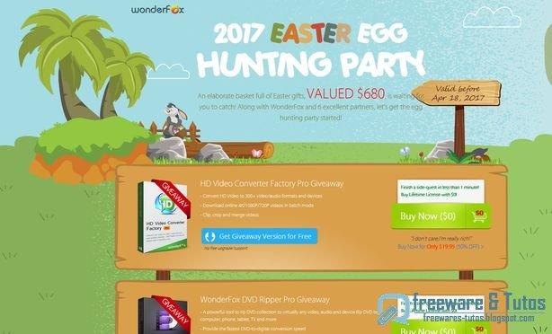Offre promotionnelle : 8 logiciels commerciaux gratuits pour Pâques !
