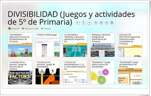 14 juegos y actividades sobre DIVISIBILIDAD de 5º de Primaria