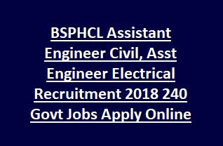 BSPHCL Assistant Engineer Civil, Asst Engineer Electrical Recruitment 2018 240 Govt Jobs Apply Online