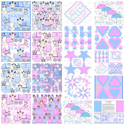 It 39 s raining baby showers for Baby themed fabric