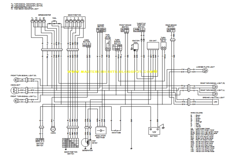 FL125 wiring (Suzuki Shogun)   Techy at day, Blogger at