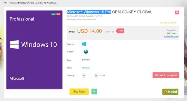 احصل على نسخة ويندوز 10 اصلية بمبلغ 14 دولار و تخفيضات اخري للألعاب و البرامج