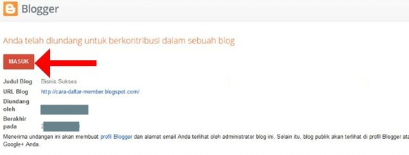 Masuk ke Blogger com