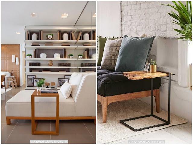 mesa apoio encaixe sofá