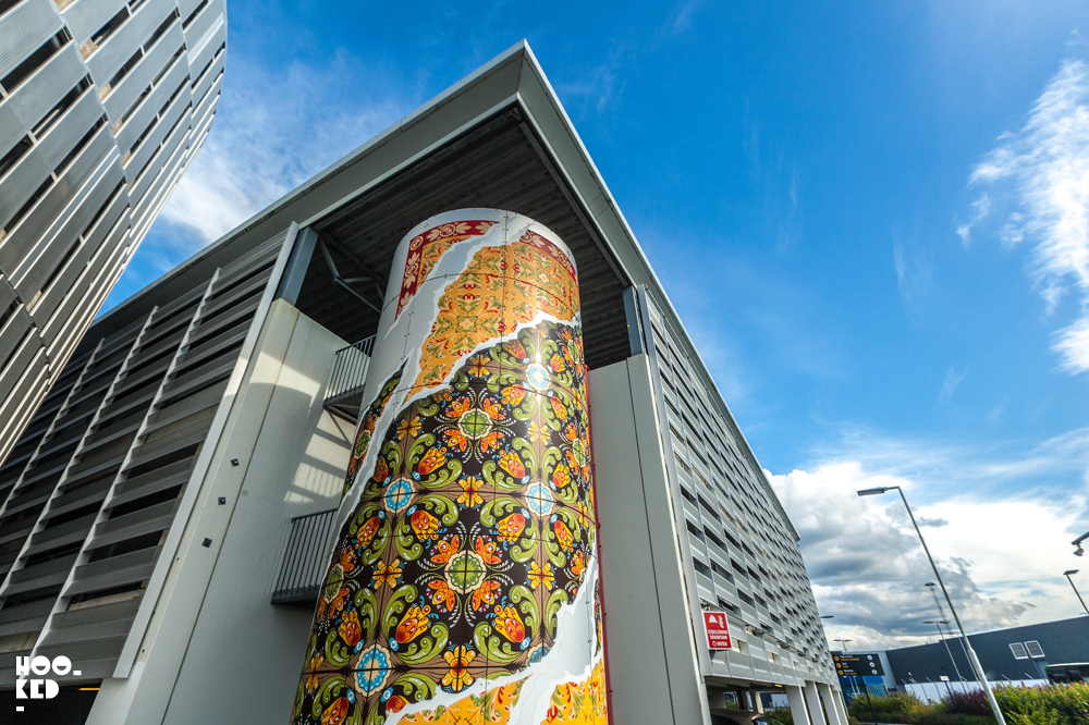 Add Fuel 's street art mural, Stavanger Airport, Nuart 2017. Photo ©Mark Rigney / Hookedblog