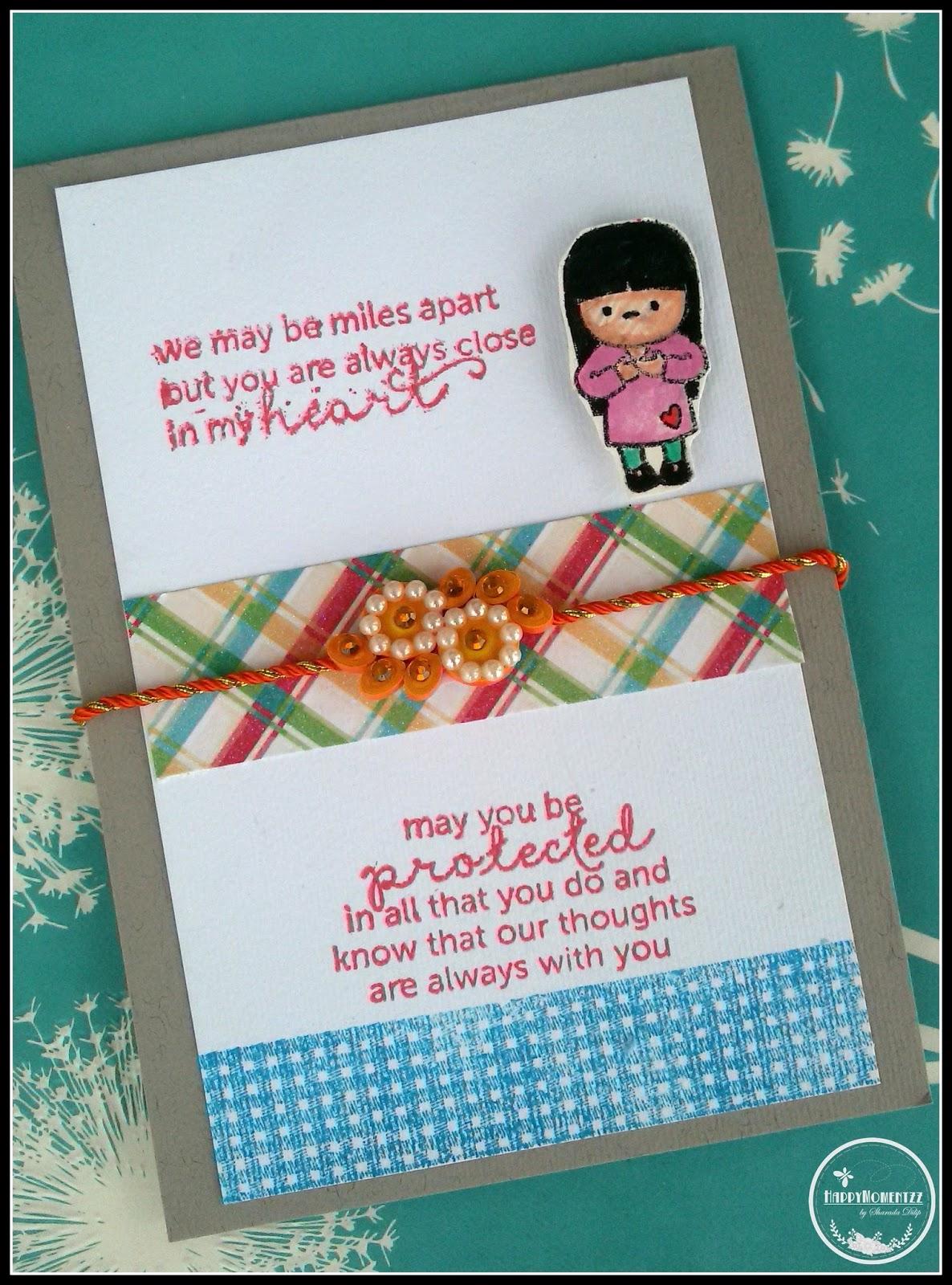 happymomentzz craftingsharada dilip rakhi cards at