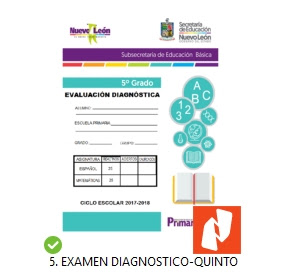 Examen Diagnostico 5to grado primaria