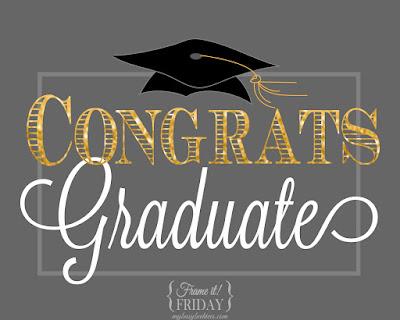 Congrats Graduate, a free graduation printable