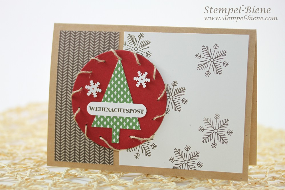 Stampin Up Projekt Life Dezembertage, Stampin up Weihnachtskarte, Stampin up Weihnachtsworkshop, Stampin Up Artikel bestellen, Match the Sketch