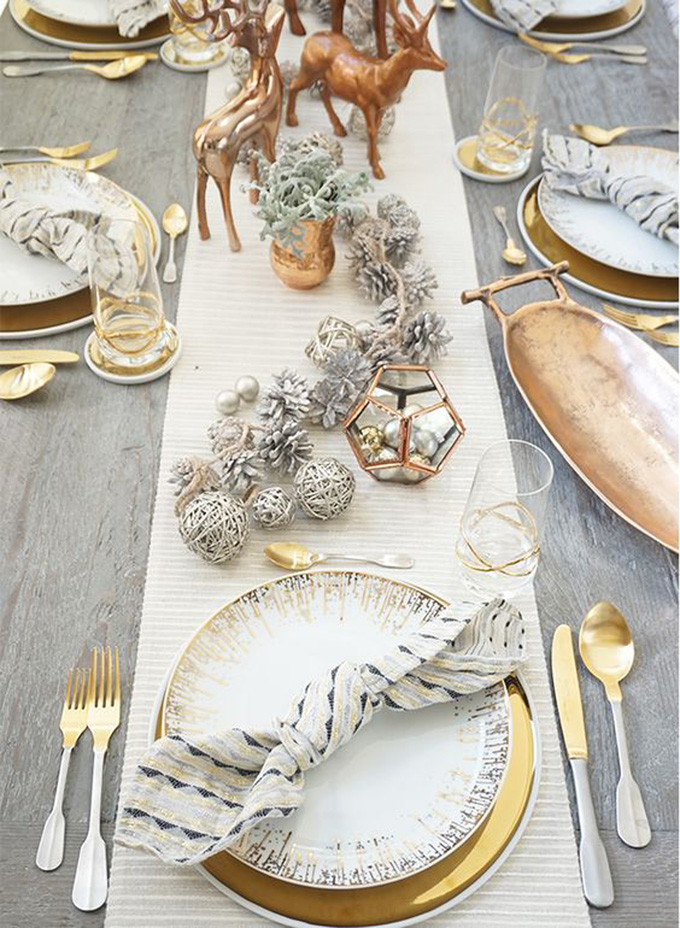 Luxe for less Christmas Table Ideas