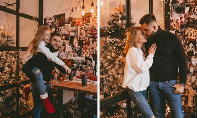 Christmasy, warm, cosy couple photoshoot by Nika Sergah.