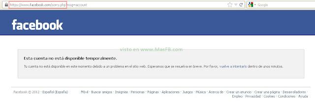 Facebook 2012 cuenta
