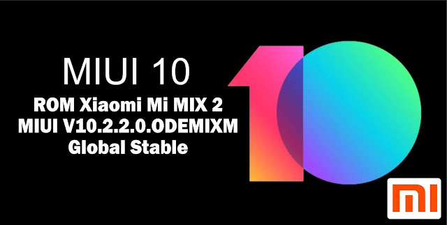 Download ROM Xiaomi Mi MIX 2 MIUI V10.2.2.0.ODEMIXM Global Stable