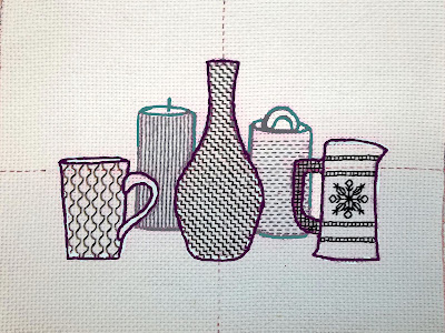 Blackwork embroidery, Step 5: the Candle