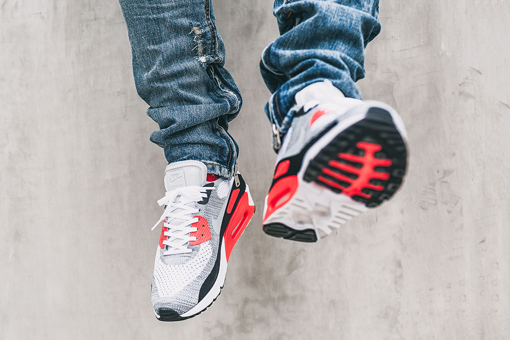 Nike Air Max 90 Ultra 2.0 Flyknit 'Infrared' sneakers / MNML M1 Denim by Tom Cunningham