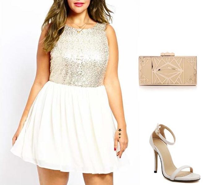 Look Año Nuevo plus size vestidos
