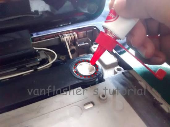 Cara Perbaiki Suara dan membran Speaker Laptop Pecah dan sobek Dengan Lem Castol