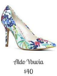 Sydney Fashion Hunter - Aldo Ybuvia Floral Pump