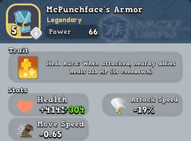 World of Legends: McPunchface's Armor