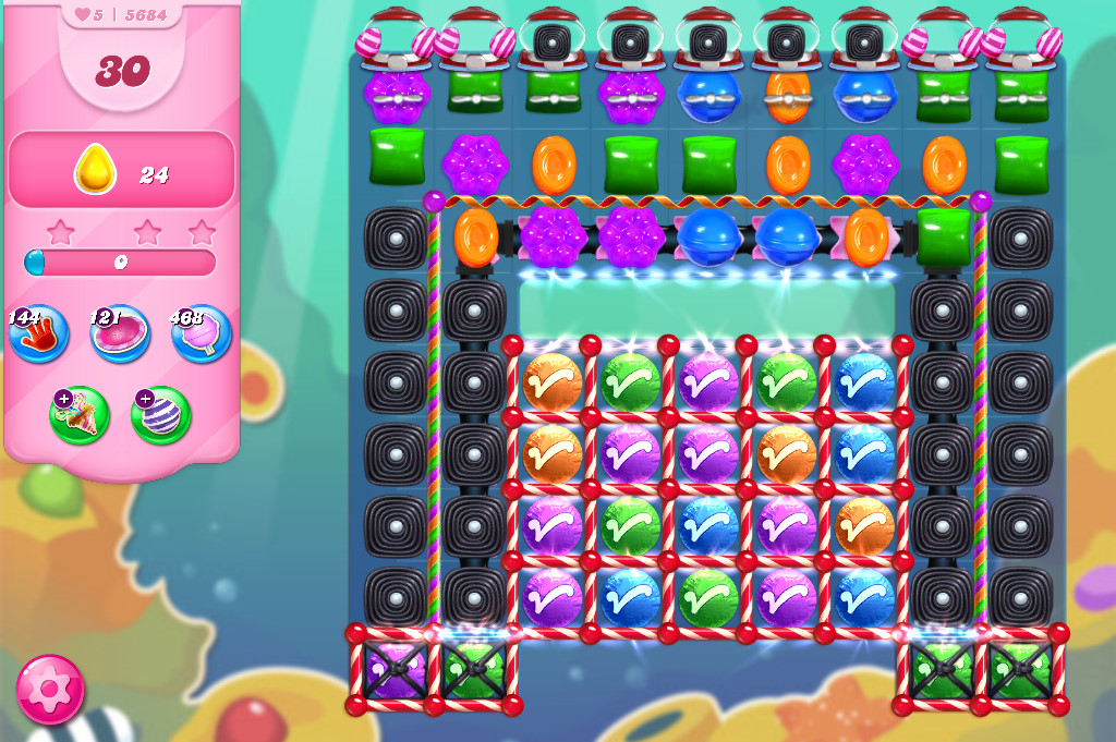Candy Crush Saga level 5684