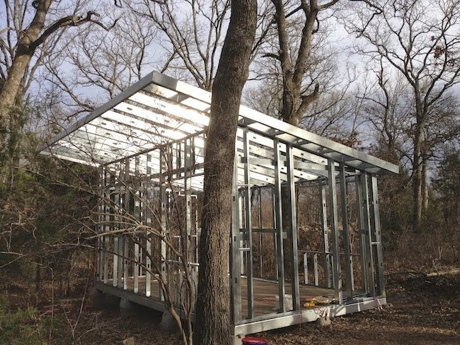 Building out of Steel in the Woods!
