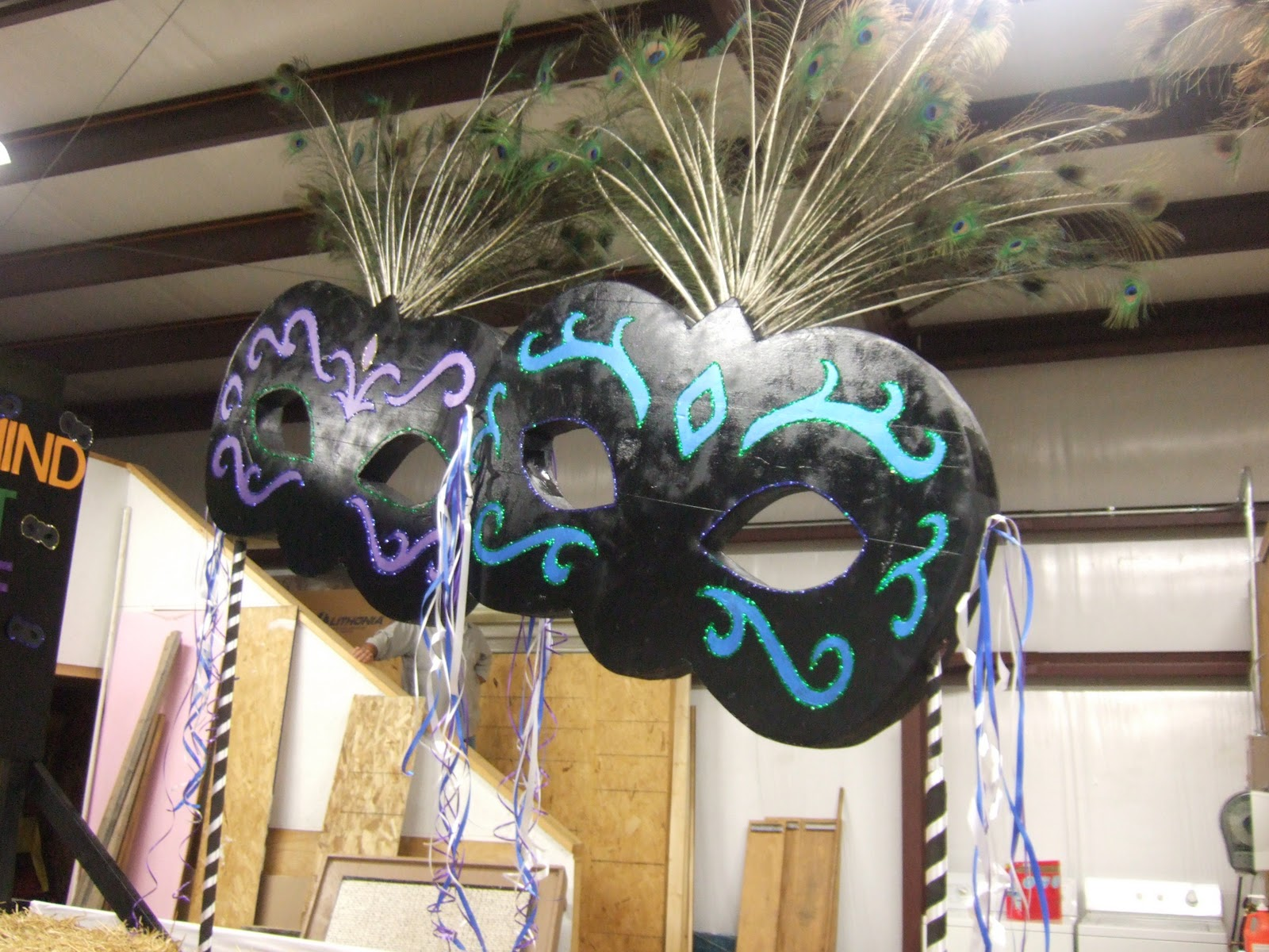 Giant Masquerade Masks for Party Decorations