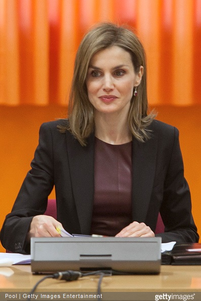 Queen Letizia of Spain visits the ONCE Education Resource Center on February 25, 2015 in Madrid, Spain