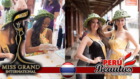 Candidatas visitan comunidad de Amphawa Chaipattananurak - Miss Grand International 2015