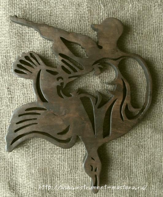 деревянное панно охота