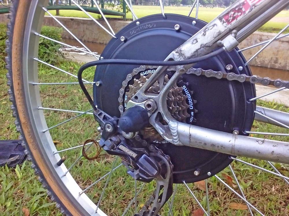 Motor Jenis HUB. langsung velg